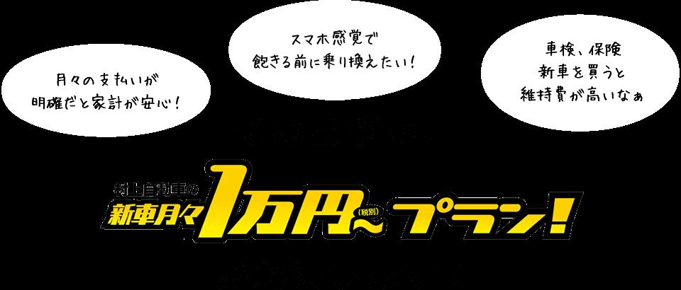 そのお悩み、月々1万円~プランが解決します!